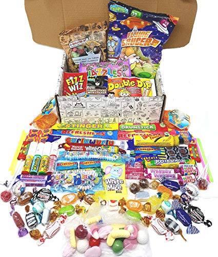 Retro Sweets Mega Gift Box: Jam Packed With Over 60 of the Best, Most Mouthwatering Retro Sweets. Perfect Christmas Gift, Get Well Soon, Congratulations, Romantic Valentines or Anniversary Present Ideas For Him and Her: Boys & Girls, Mums & Dads, Men & Women Of All Ages.