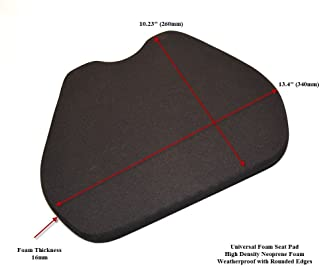Motorcycle Race Seat Pad for Track Use High Density Neoprene Foam Universal Fit-1