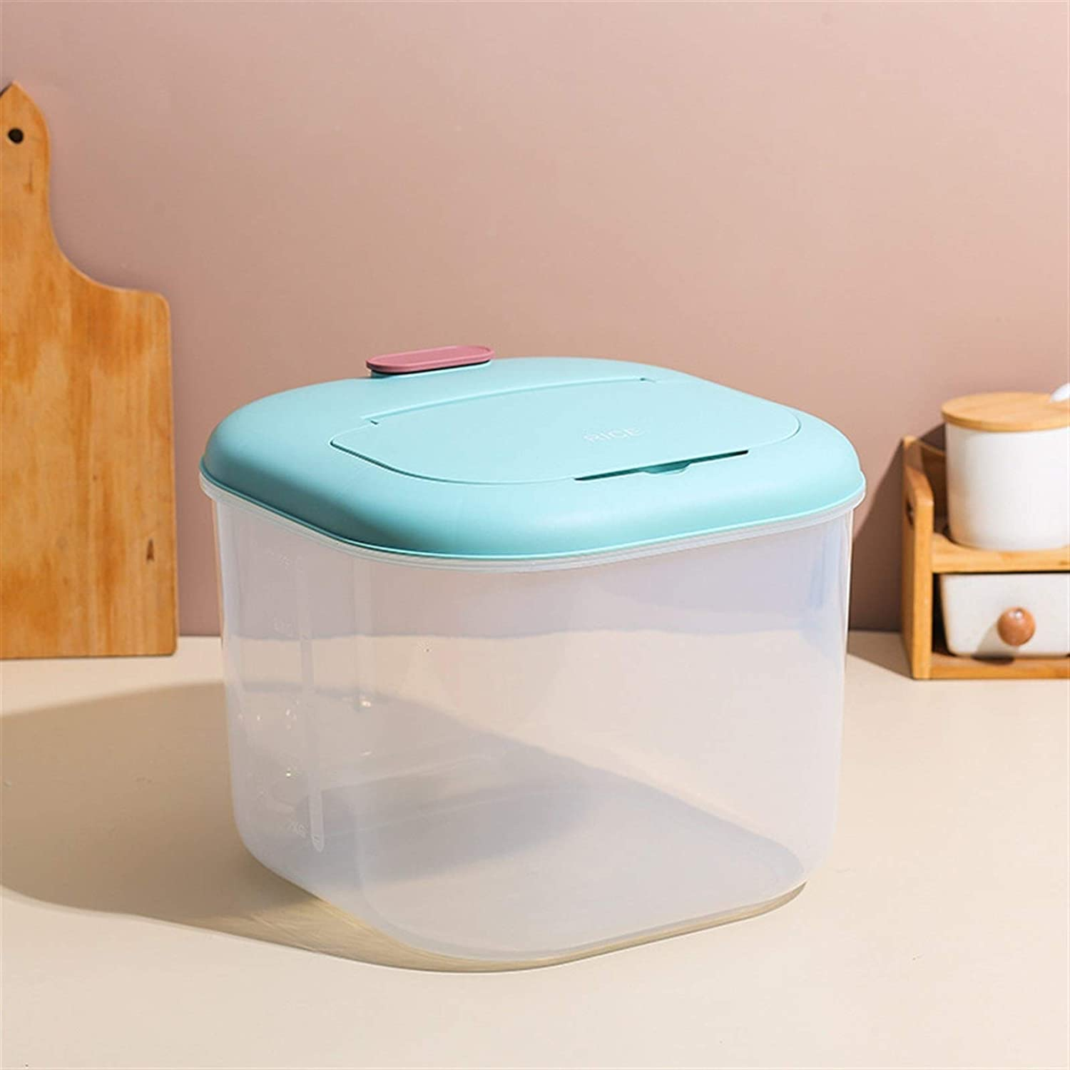 JIEKES Selling and selling Rice Storage Box,Kitchen Home can Gra Max 83% OFF Flipped Sealed be