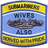Submariners Wives Also Served With Pride Blue Patch