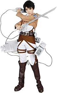 Attack on Titan Survey Corps Captain Levi Embroidered Cosplay Costume Halloween
