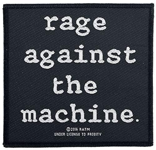 Rage Against The Machine Rage Against The Machine Unisex Parche negro-blanco, 100% poliéster,