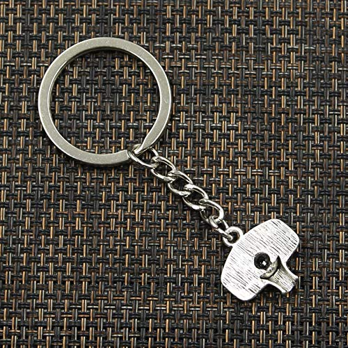YUIOP Fashion 30mm Key Ring Metal Key Chain Keychain Jewelry Antique Silver Color Plated Basketball Hoop 20x19mm PendantChristmas pendant
