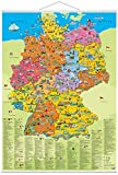 """Erlebniskarte """"Deutschland Politisch"""" mit Beleistung"""