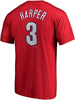 Outerstuff Bryce Harper Philadelphia Phillies MLB Majestic Youth Player Name & Number T-Shirt