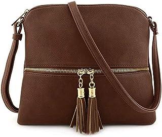 Luxury Handbag Bag Designer Ladies Leather Tassel Messenger Bag Solid Color Shoulder Bag Messenger Bag