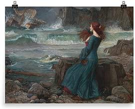 Retrograde Ink John William Waterhouse - Miranda - The Tempest - Vintage pre Raphaelite Shakespeare/shakespearian Medieval Renaissance Inspired Art