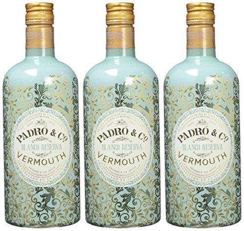 Vermouth Padró & Co Blanco Reserva - 3 botellas de 750 ml, Total: 2250 ml