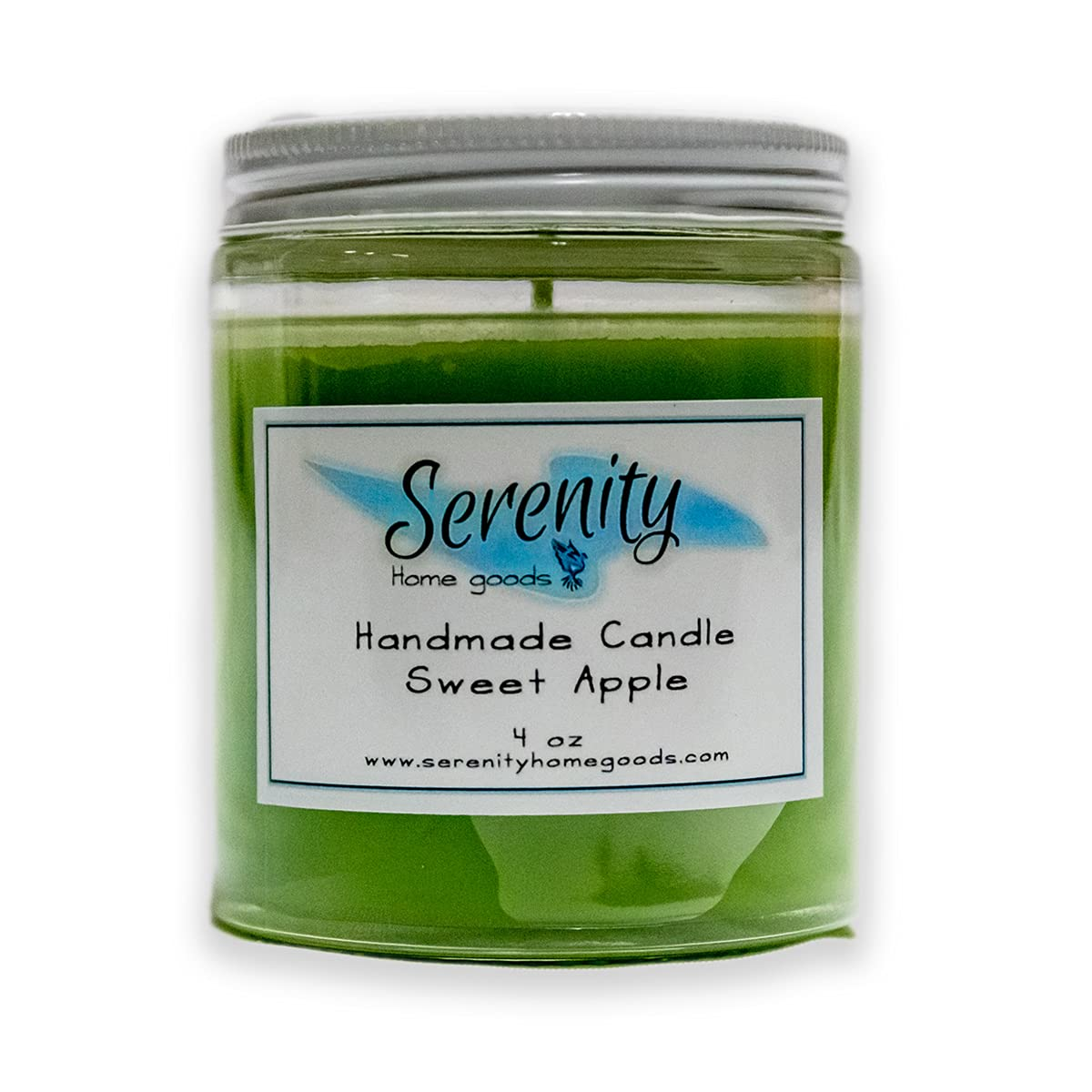 Handmade Scented Candles | Serenity Home Goods | 4oz Clear Glass Jar | Made In The USA | Sweet Apple | Housewarming Gift Christmas Present