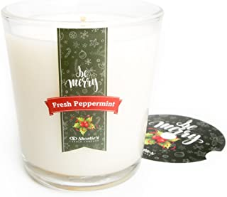 Fresh Peppermint Christmas Candle Tumbler with Gift Box - Highly Scented - 9.5 Oz Candles Collection