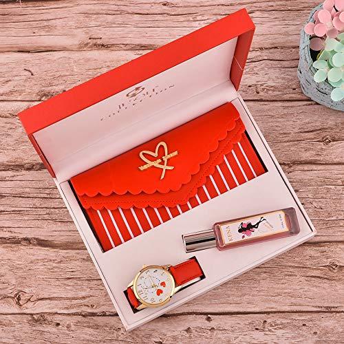 Shhyy Caja de Regalo Reloj Mujer,Reloj -Perfume - Cartera,Regalo de San Valentín,D