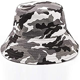 Asdfnfa Sun Hat Male Models Sun Hat Summer Anti-UV Folding Beach Hat Big Hat Fishing Hat (Color : Gray)