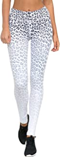 HAODIAN Women's High Waist Stretch Leopard Yoga Pants Gym Sports Leggings Tights