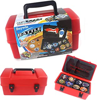 Red Bey Battling Top Case,Storage Carrying Box for Beyblade Burst Turbo Launcher Game Accessorie Beylocker Portable Bey Set Organizer Gaming Top Receiving Box Compatible with Takaratomy Beyblade Burst