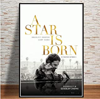 Poster A Star Is Born Love Movie Bradley Cooper Lady Gaga Canvas Wall Art Painting Wall Pictures Home Decor 50 × 70Cm No F...