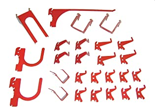product image for Slotted Tool Board Hook Kit, 26 Piece, Red