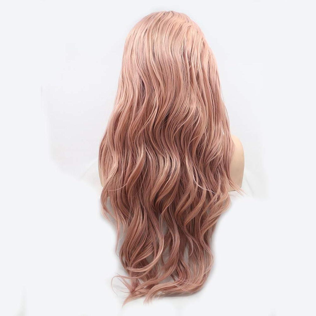 ゲージビスケット切り離すHAILAN HOME-かつら ピンクのグラデーションイオンホットForesightful髪カーリーヘアウィッグレディース手作りのレースのヨーロッパとアメリカのウィッグセットウィッグセットナチュラルグラフィック換気