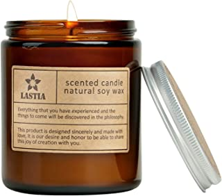 Lastia Natural Soy Wax Scented Candles Jar Candle for Stress Relief, Aromatherapy, White Tea & Ginger Flower, 7 oz
