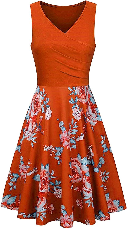 TNFILG Basic Crewneck Belted Office Dress with Pockets Solid Color Short Sleeve Party Slim Vintage Floral Cocktail Cap Retro Pencil Women's Classic 3/4 V Neck Sheath Casual Work Faux Black Wrap
