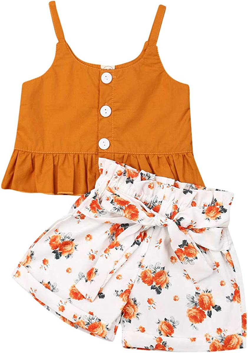 Toddler Baby Girl Summer Over item handling ☆ Easy-to-use Clothes Off Shoulder Sleeveless Floral