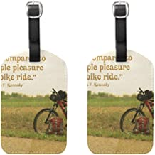 EnmindonglJHO Luggage Tags Nothing Compares To The Simple Pleasure Of Bike Womens Bag Suitcase Tags Holder traveling accessories Set Of 2