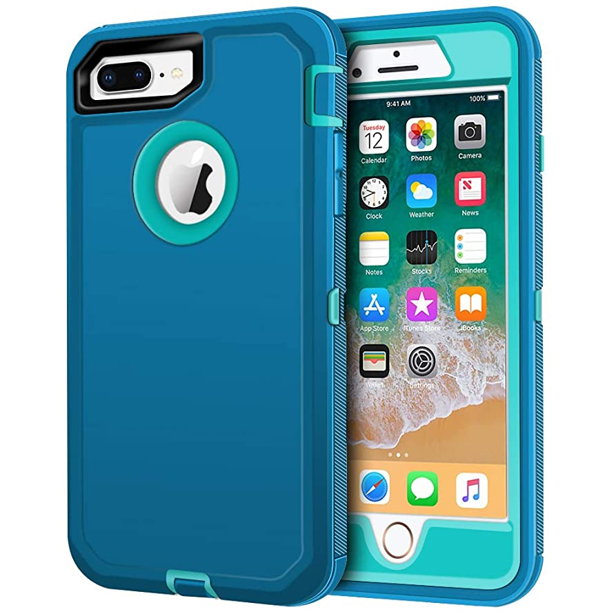 iPhone 8 Plus Case, iPhone 7 Plus Case, LOEV Heavy Duty Shockproof Case Anti-Scratch 3 Layer Protective Cover Hard PC Shell Soft TPU Bumper Defender Case for Apple iPhone 7/8 Plus 5.5