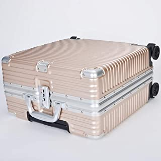 YUMILI Aluminum Frame 16 Inches Rotating Wheel Travel Luggage Suitcase Boarding Business Classic PC Aluminum Frame Trolley (Color : Gold, Size : 16inch)