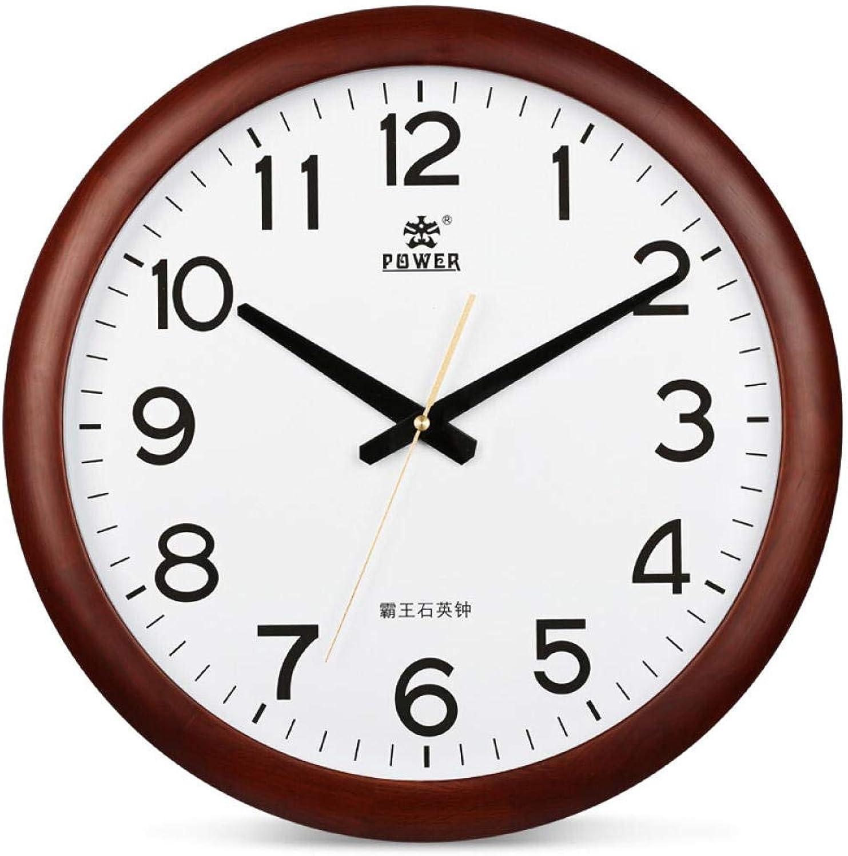 tienda de venta en línea ALisu Reloj de Parojo de la Vendimia Vendimia Vendimia Sin Ruido Reloj de Parojo Decorativo Reloj de Parojo de Madera Maciza, Sala de Estar, Reloj rojoondo de 17 Pulgadas 13004  seguro de calidad