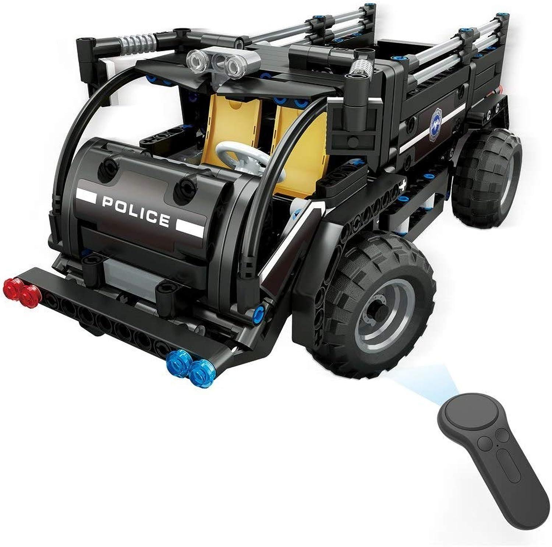 Generic 392pcs M1 4CH Remote Control DIY RC Building Blocks Robert Robot Toys Creative Bricks with 360redate in Situ for Gift Kids 462pcs Transport car