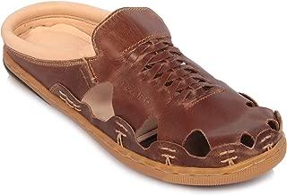 tZaro Genuine Leather Dark Tan Mule - Hector Dtan, RON421TAN