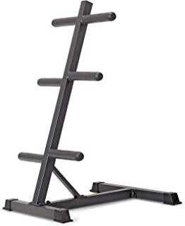 Marcy Olympic Weight Plate Tree Compact Exercise Equipment Storage Rack for 2-inch Weight Plates PT-45