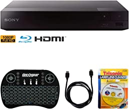$90 » Sony BDP-S1700 Streaming Blu-ray Disc Player w/Accessories Bundle Includes, 2.4GHz Wireless Backlit Keyboard with Touchpad, 6ft HDMI Cable and Laser Lens Cleaner for DVD/CD Players