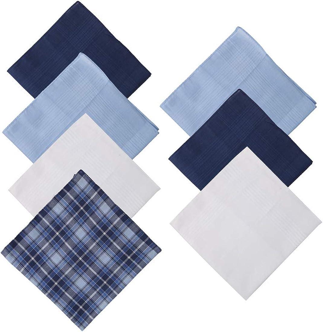 Y&G Men's Fashion Excellent Design 7 Pure Cotton Handkerchiefs Set Wedding