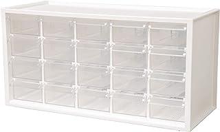 livinbox パーツキャビネット 工具箱 小物や雑貨収納 多目的収納 20引き出し-ホワイト