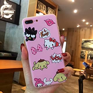 for iPhone 7 & 7Plus & 8 & 8Plus - Hello Kitty My Melody Mickey Minnie Pooh Bear Chip and Dale Back Cover Phone Case for iPhone 7Plus 8 6S 6 Silicone TPU+PC - by ANNELE - 1 PCs