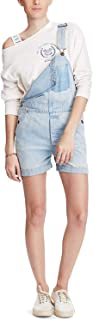 Denim & Supply Women's Cotton Denim Overalls Navy Large
