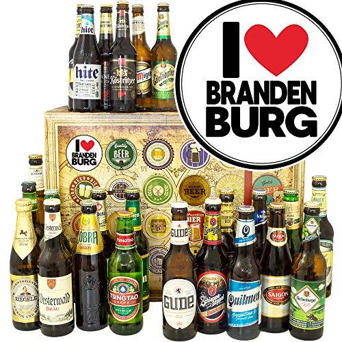 I Love Brandenburg ++ Bier aus aller Welt und D 24x ++ Geschenke Brandenburg/Adventskalender Bier 2019