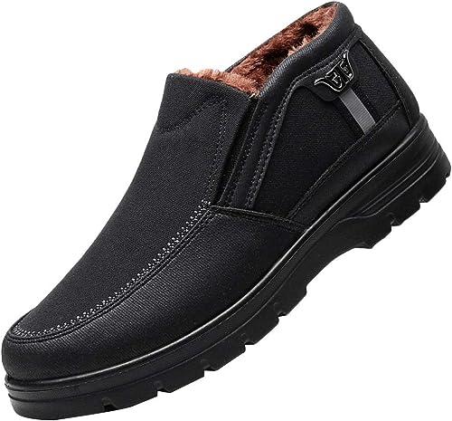 MISS LI Bottes De Neige Chaussures Homme Hiver Chaud Extérieur Imperméable Travail Homme Utilitaire Pied épaississant Doublé De Fourrure Cheville Up Trekking