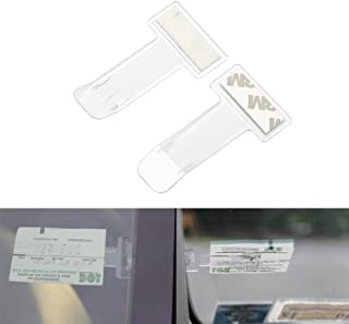 comprar comparacion Distinct® 2pcs Etiquetas engomadas del sujetador de la ventana del parabrisas de la etiqueta engomada del clip del sostene...