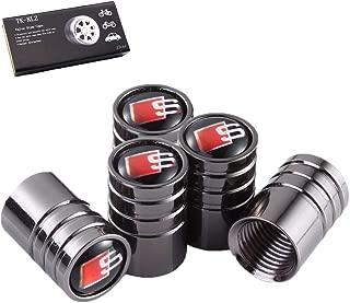 TK-KLZ 5Pcs S Line Logo Car Tires Valve Stem Caps for Audi S Line S3 S4 S5 S6 S7 S8 A1 A3 RS3 A4 A5 A6 A7 RS7 A8 Q3 Q5 Q7 R8 TT Car Styling Decoration Accessories