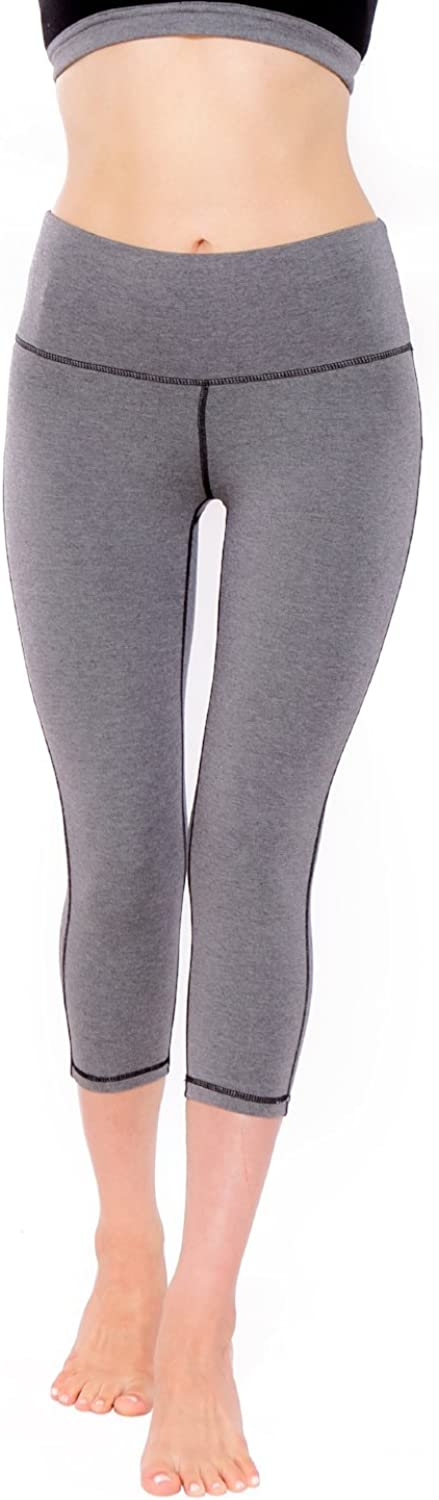 Green Apple Active 17  Rise Up Yoga Essential Capri, Heather Silver