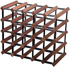 Yxsd Kitchen Storage Organisation Wood Wine Rack Holder With Storage Stand Organiser Countertop Galvanised Steel Wine Rack...