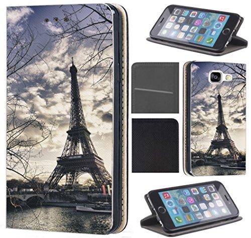 CoverHeld Hülle für Samsung Galaxy A10 Handyhülle Design 1452 Eifelturm Paris Frankreich Seine aus Kunstleder Schutzhülle Flipcover Beidseitig Handy Hülle Hülle für Samsung Galaxy A10