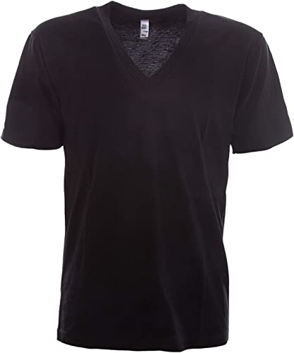 LOS ANGELES APPAREL Homme LAC24056noir Noir Coton T-Shirt