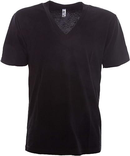 LOS ANGELES APPAREL Homme LAC24056noir Noir Coton T-Shirt