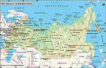 Russia Map  36  W x 23.37  H
