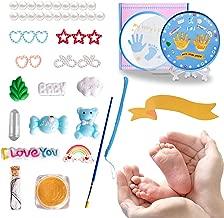 Newborn Baby Handprint Baby Footprint Keepsake Kit for Girls and Boys, Easy to Use Handprint Tin, Perfect Registry, Baby Shower & Newborn Gift, Non-Toxic Soft Clay (Blue)