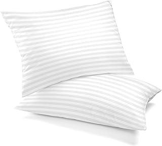 Lux Decor Collection - Bed Pillows for Sleeping - Plush Cotton Pillows - (2 Pack) Queen Pillows - Soft, Dense Fiber Gel Fi...