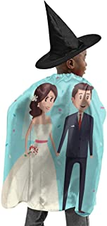 YUIOP Deluxe Halloween Children Costume Bride and Groom Wizard Witch Cloak Cape Robe and Hat Set