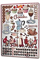 カレンダー Perpetual Calendar Fun Kitchen Lindner Coffee Shop Tin Metal Magnetic